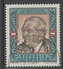AUSTRIA SG2147 1987 OSKAR HELMER(POLITICIAN) FINE USED