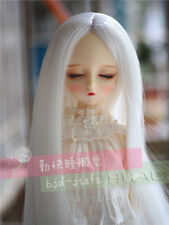 "7-8"" 1/4 BJD White Long Wig LUTS Doll SD DZ DOD MSD Pullip Hair Pullip Dllfie"