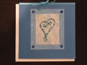 Heart - Love: handmade greeting card
