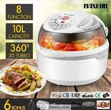 1300W 8 in1 Multi Function Air Fryer Turbo Convection Oven Cooker-Gray 10L
