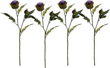 4 x Artificial Thistle Flowers Sprays