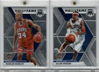 2019-20 Panini Mosaic Hall of Fame #287 Allen Iverson & #282 Charles Barkley