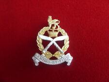 GSPS - GURKHA SPS GILT/SILVER PLATE CAP BADGE - BRITISH ARMY - UK