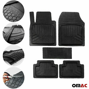 OMAC Car Floor Mats for All Weather Rubber 5 Pcs. Fits Heavy Duty