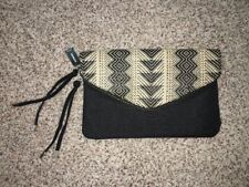 Express Black Multi-Color Clutch Purse Zip Magnetic Closure NWT