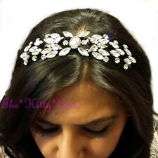 Debenhams Vintage Nouveau Floral Crystal Cluster Statement Crown Tiara Hair Band