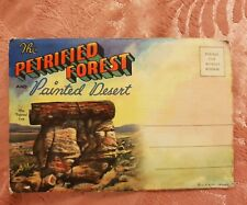Petrified Forest & Painted Desert - Vintage Accordion-Style Picture Postcard