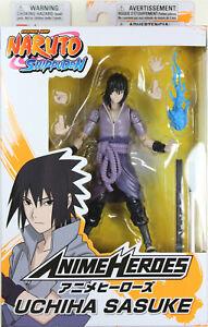 Anime Heroes ~ UCHIHA SASUKE Action Figure ~ Series 1 ~ Bandai / Shonen Jump