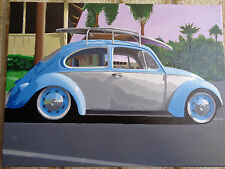 VW VOLKSWAGEN BEETLE ACRILYC PAINTING ON CANVAS