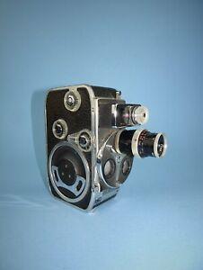 Bolex Paillard D8L triple turret 8mm cine camera in excellent condition.