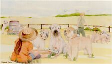 Soft Coated Wheaten Print Off To The Dog Show by Uk Artist Sandra Coen Last One*