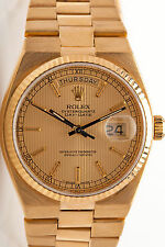 RARE $30,000 Mens 18k Yellow Gold ROLEX President OysterQuartz Watch 145g & BOX