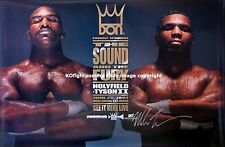 MIKE TYSON vs. EVANDER HOLYFIELD (2) / Mike Tyson Signed Don King PPV Poster