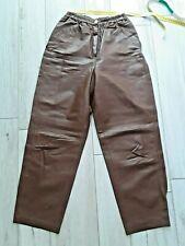 Vintage Damen Lederhose, Braun, Größe  40