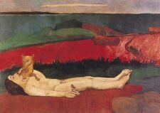 Paul Gauguin Verlust der Jungfräulichkeit Akt Faksimie Rxz 4 auf Büttenpapier