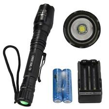 CREE XM-L T6 LED Torch Flashlight Light 1800LM Zoomable+ Charger+18650x2 Battery