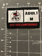 Ute Conference Incorporated Football Program Patch Jersey Tag 2012 Adult M Utah