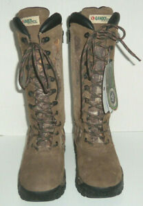 Gander Mountain  Women's Leather Camo Waterproof Hunting Boots NWT