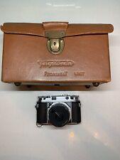 Voigtlander Prominent - 35mm Rangefinder Film Camera w/ 50mm f/1.5 Nokton Lens,