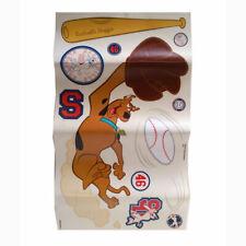 DISNEY Scooby Doo Baseball Wall Stickers Decals - 1 Sheet