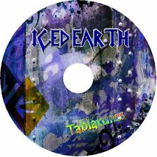 ICED EARTH BASS & GUITAR TAB CD TABLATURE GREATEST HITS BEST ROCK METAL MUSIC