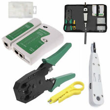 RJ45 Ethernet Network Cable Tester Crimping Crimper Stripper Cutter Tool Kit Set
