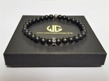 Mens beaded macrame bracelet with high quality Matte Finish Zircon Gems