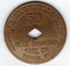 Blue Diamond Coal Mining Co Scrip 50c Toner Kentucky KY Perry County Token Ary M