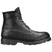"""Timberland Icon 6"""" Inch Classic Waterproof Boots All Black Leather Men TB010069"""