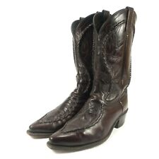 Dan Post Albany Bucklace Western Cowboy Boots - Men's Size 10 - Black Cherry