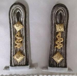 2 Schulterstücke Abzeichen Marine Sanitäter Oberstabsarzt 2. Weltkrieg
