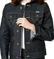 Wrangler Selvedge Jean Jacket Woman Icon XL Indigo Contrast Stitch new NWT rare