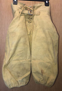 Empire 1950s Canvas Pee Wee Football Pants Style 42 Boys size 26 vtg Made in USA