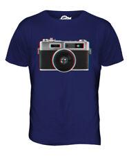 Retro Cámara 3D Parte Superior el Hombre Camiseta Tee Giftphotography Ilusión