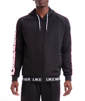 Kappa Men's Authentic JPN Basev Hoodie, Black Red