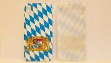 iPhone X / XS Silikon Hülle Bayerische Fahne mit Wappen weiss-blau Bayern