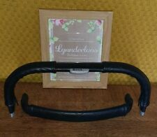 BUZZ faux leather handle bar & bumper bar COVER ONLY, CURVED SHAPE Black Quilted
