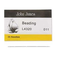 25 #11 John James English Beading Needles - Fine - Medium