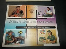 vintage 1965 GIRL SCOUTS OF THE U.S.A. a promise in action USED CALENDAR + bag