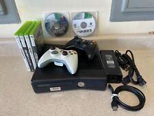 Microsoft Xbox 360S 250GB HDMI Bundle Model 1439 Controllers, 6 Games