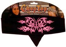 Pink Black Butterfly Glitter Chop Top Bandanna Headwrap Sweatband Biker Headband