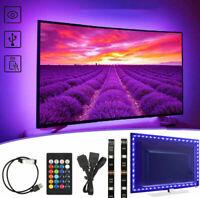 5V USB Powered TV LED Backlight USB 5050 RGB LED Strip Light Remote Kit 30Leds/M