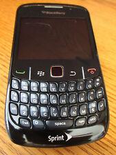 New listing Blackberry 8530 Curve Sprint 2.0 Camera Bluetooth Wi-Fi Black Very Good Plus