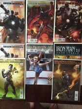 Iron Man 2.0 Comic Book Lot,  8 Issues, Variants, Near Mint, Marvel