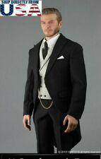 "1/6 Gentleman British Royal Tuxedo Suit Set For 12"" Hot Toys Worldbox Figure USA"