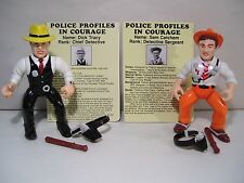 LOT OF 2 VINTAGE DICK TRACY ACTION FIGURES SAM CATCHEM PLAYMATES 1990 COMPLETE