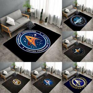 Star Trek Logo Area Rugs Living room Bedroom Carpet Hallway Anti-Skid Floor Mat