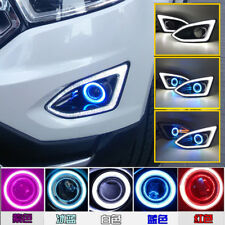 2x LED Daytime Running Fog Lights Lamp DRL For Ford EDGE 2015 2017+ Angel Eyes