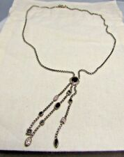 David Yurman Sterling Silver Black Onyx & Diamonds Confetti Necklace