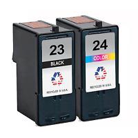 2 PK for Lexmark 23 24 Ink Cartridges X Series X3530 X3550 Z Series Z1410 Z1420